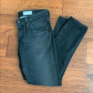 AG The Jeggings Ankle skinny black jeans